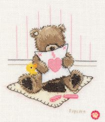 Popcorn Cuddle Up Vervaco Counted Cross Stitch Kit 1695\VB14