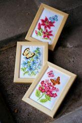 """Vervaco Miniaturen Stickset   /"""" Blumen/""""  3er Set   PN-0156498"""