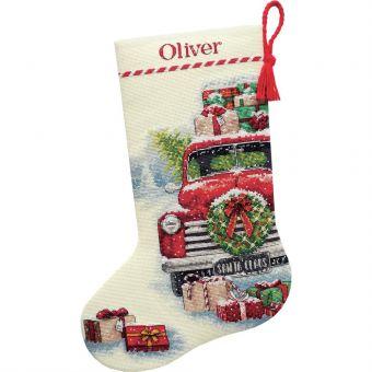 Dimensions Crafts - Weihnachtsstiefel SANTA'S TRUCK
