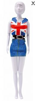 Dress Your Doll - Making Couture - Kleider Set - Combi Red Blue