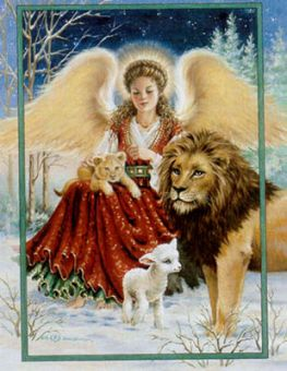 Heaven And Earth Designs - Angel Lion And Lamb