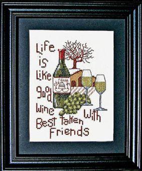 Bobbie G. Designs - Good Wine Good Friends