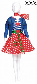 Dress Your Doll - Making Couture - Kleider Set - Lucy Polka Dots