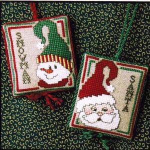 Sweetheart Tree - Showman & Santa Ornaments (w/chm)