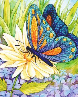 Diamond Painting Artibalta - Butterfly on the Flower
