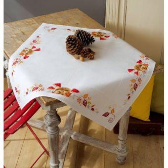 Vervaco - Tischdecke Igel mit Pilzen PN-0155619