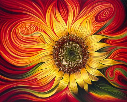 Diamond Painting Artibalta - Burning Sunflower