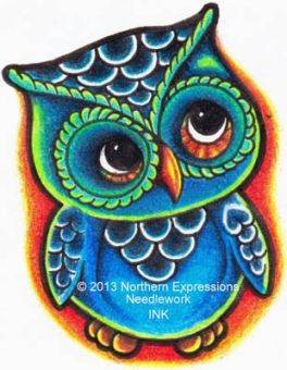 Northern Expressions Needlework - Hootie (Ink Series)