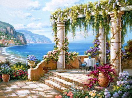 Diamond Painting Artibalta - Terrace near the Sea