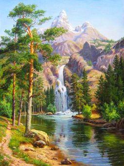 Diamond Painting Artibalta - Mountain Waterfall