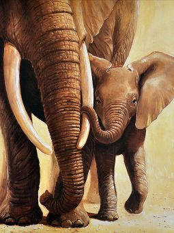 Diamond Painting Artibalta - Elephant of the Mother