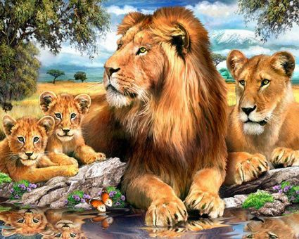 Diamond Painting Artibalta - Lions