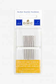 DMC - 6 Cross stitch needles size 22 1 pack