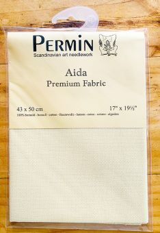 Super SALE  Permin Premium Fabric - 18 ct  Pre-cut Color Ivory
