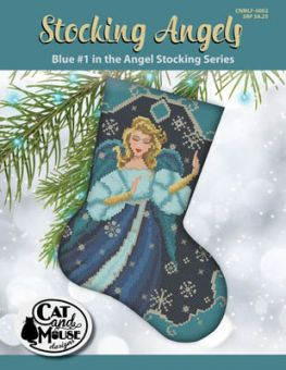 Cat And Mouse Designs - Stocking Angel 1 - Blue In TheAngel