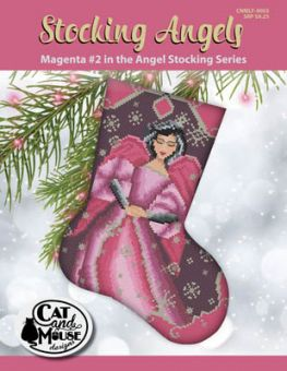 Cat And Mouse Designs - Stocking Angel 2 - Magenta InThe Angel