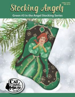 Cat And Mouse Designs -Stocking Angel 3 - Green In The Angel