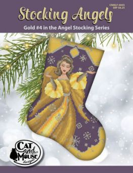 Cat And Mouse Designs - Stocking Angel 4 - Gold In TheAngel