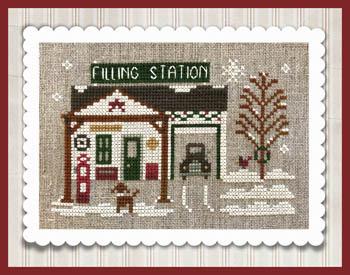 Little House Needleworks - Hometown Holiday - Pop's Filling Station