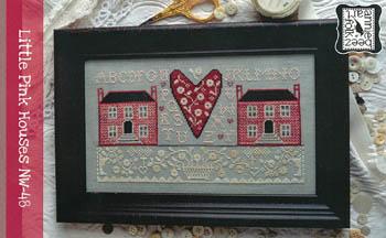 Annie Beez Folk Art - Little Pink Houses