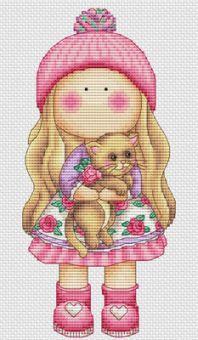 Les Petites Croix De Lucie - Amber With Cat
