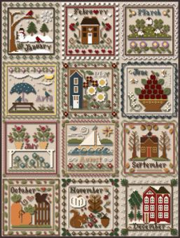 Little House Needleworks - Months Of The Year