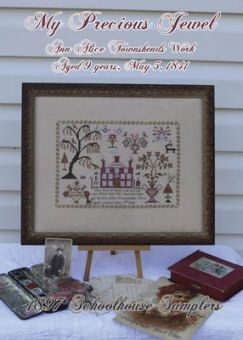 1897 Schoolhouse Samplers - Ann Alice Townshends Work