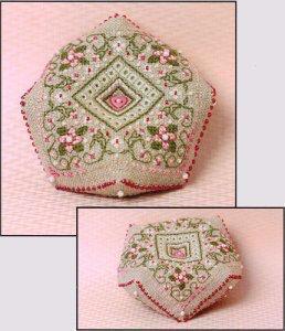 Sweetheart Tree - Cherry Blossoms Biscornue Pincushion (w/beads)