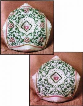 Sweetheart Tree - Spring Blossoms Biscornue Pincushion (complete kit)