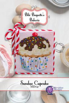 Meridian Designs For Cross Stitch - Sundae Cupcake