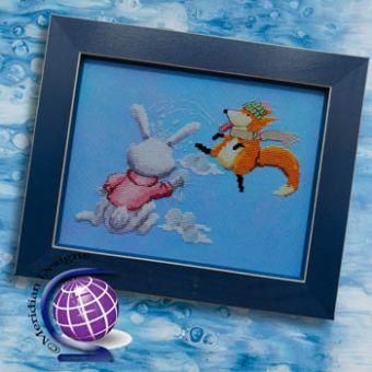 Meridian Designs For Cross Stitch - Finneas Fox's Winter Fun