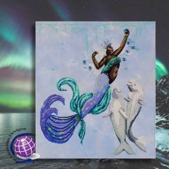 Meridian Designs For Cross Stitch - Kristin The Arctic Ocean Mermaid