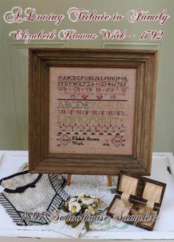 1897 Schoolhouse Samplers - Loving Tribute To Family - Elizabeth Brown's Work 1792