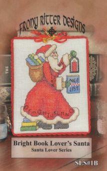 Frony Ritter Designs - Bright Book Lover's Santa