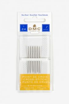 DMC - 6 Cross stitch needles size 24
