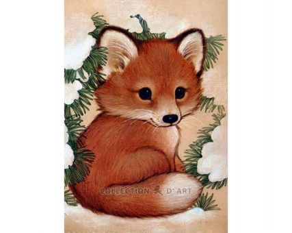 Diamond Embroidery/ Diamond Painting - Fox pup