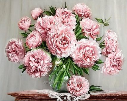 Diamond Embroidery/ Diamond Painting - Garden peonies