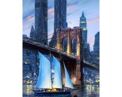Diamond Embroidery/ Diamond Painting -  Big city bridge