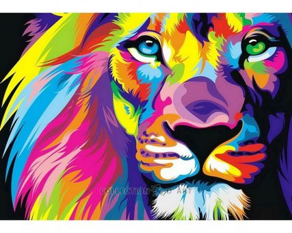 Diamond Embroidery/ Diamond Painting - Rainbow lion
