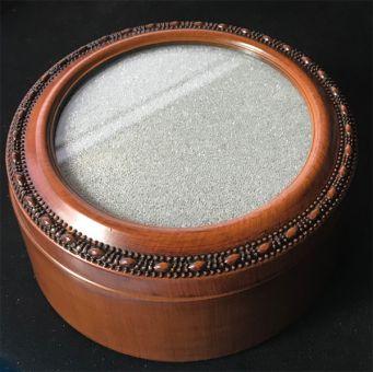 Woodgrain Round Treasure Box