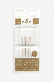 DMC 4 24K vergoldete Sticknadeln - Größe 26