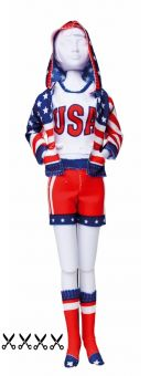 Dress Your Doll - Making Couture - Kleider Set - Sporty Stars & Stripes