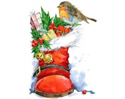 Diamond Embroidery/ Diamond Painting - Christmas bird