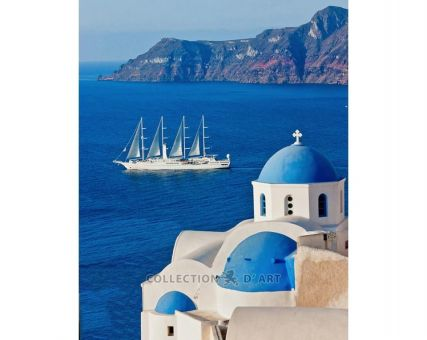 Diamond Embroidery/ Diamond Painting - Santorini
