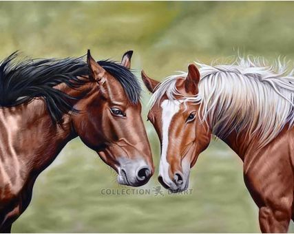 Diamond Embroidery/ Diamond Painting - Horses