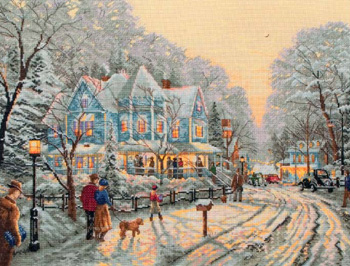 Super SALE Anchor Maia - A Holiday Gathering - Thomas Kinkade