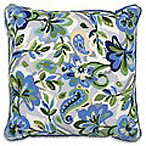 Anchor Kreuzstichkissen - Paisley Floral In Blue