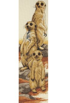 Anchor Cross Stitch - Meerkats  Erdmännchen