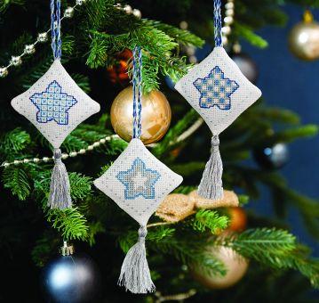 Super SALE Anchor - Anhänger Weihnachtliche Sterne eisblau