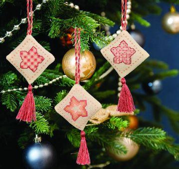Super SALE Anchor - Anhänger Weihnachtliche Sterne Rose Gold